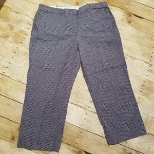 Lands End Cropped Pants Flat Front